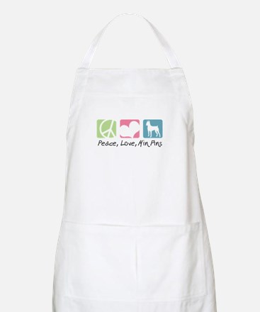 Peace, Love, Min Pins Apron