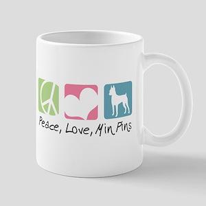 Peace, Love, Min Pins Mug