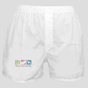 Peace, Love, Min Pins Boxer Shorts