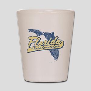 Florida Social Security State Shot Glass