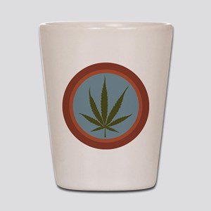 Green Leaf Shot Glass
