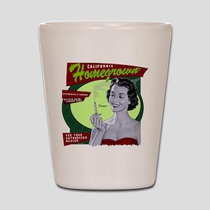 CA Homegrown Shot Glass