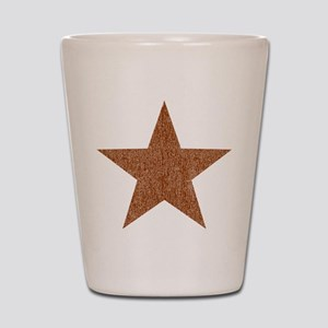 Distressed Red Star Shot Glass