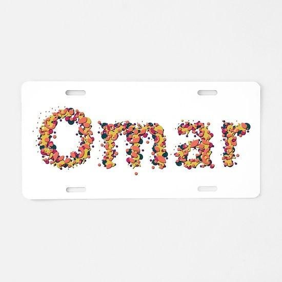 Omar Fiesta Aluminum License Plate