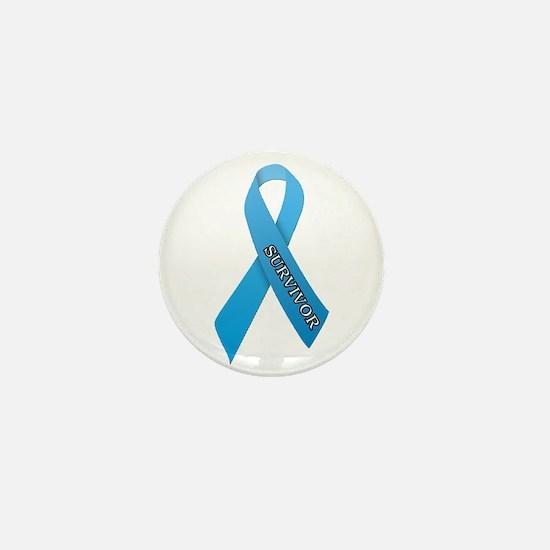 Light Blue Ribbon 'Survivor' Mini Button