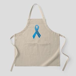 Light Blue Ribbon 'Survivor' Apron