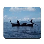 Long tail boat Mousepad