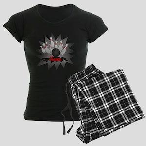 Personalized Bowling Women's Dark Pajamas