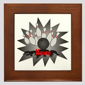 Personalized Bowling Framed Tile