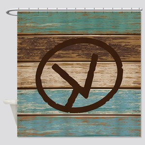 Branding Iron Letter V Shower Curtain