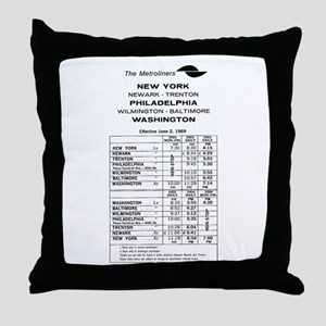 PC RR Timetable Throw Pillow