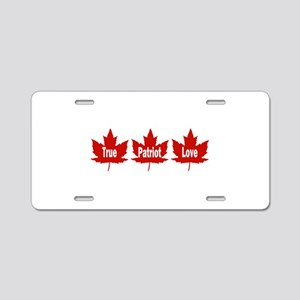 True Patriot Love Aluminum License Plate