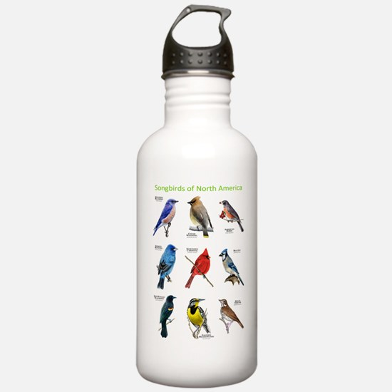 Songbirds of North America Water Bottle