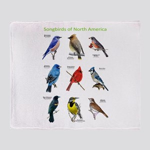 Songbirds of North America Throw Blanket