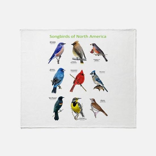 Songbirds of North America Throw Blanket