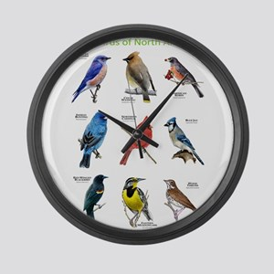 Songbirds of North America Large Wall Clock