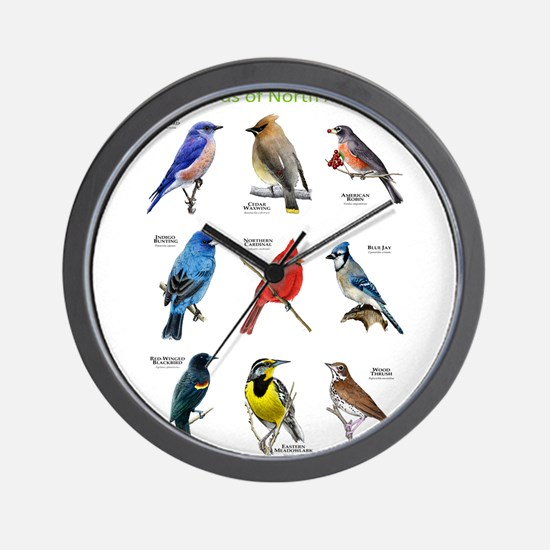Songbirds of North America Wall Clock