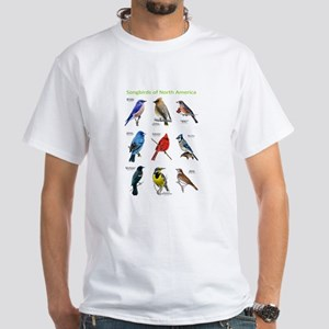 Songbirds of North America White T-Shirt