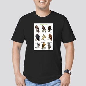 Northern American Birds of Prey Men's Fitted T-Shi