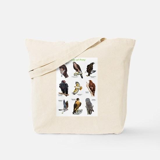 Northern American Birds of Prey Tote Bag