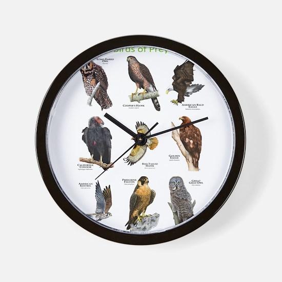 Northern American Birds of Prey Wall Clock