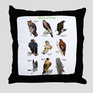 Northern American Birds of Prey Throw Pillow