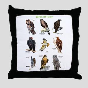 Northern American Birds of Prey Throw Pillow