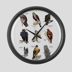 Northern American Birds of Prey Large Wall Clock
