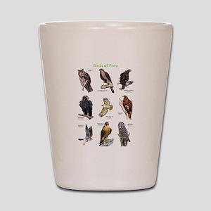Northern American Birds of Prey Shot Glass