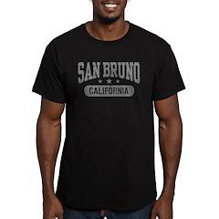 San Bruno California Men's Fitted T-Shirt (dark)