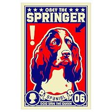 Obey the SPRINGER Spaniel! Poster