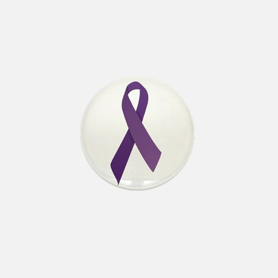Purple Ribbons Mini Button