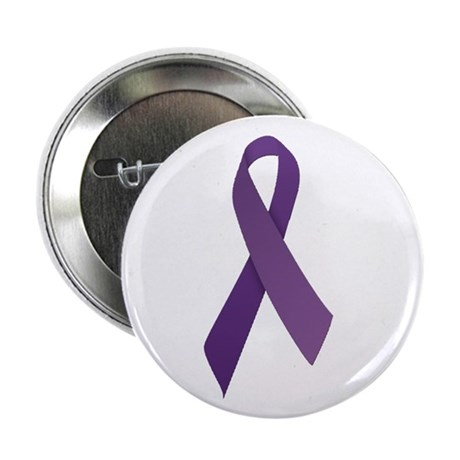 """Purple Ribbons 2.25"""" Button (100 pack)"""