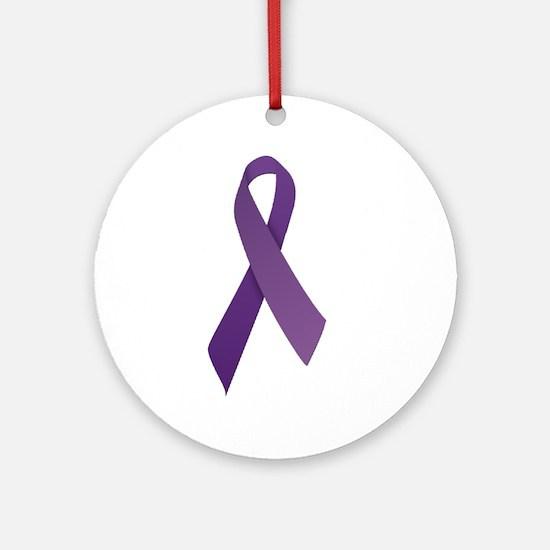 Purple Ribbons Ornament (Round)