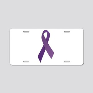 Purple Ribbons Aluminum License Plate