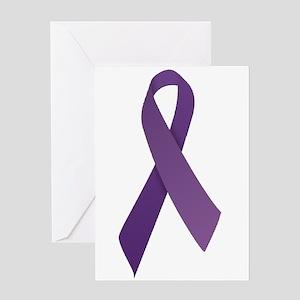 Purple Ribbons Greeting Card