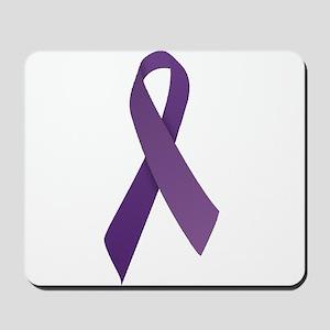 Purple Ribbons Mousepad