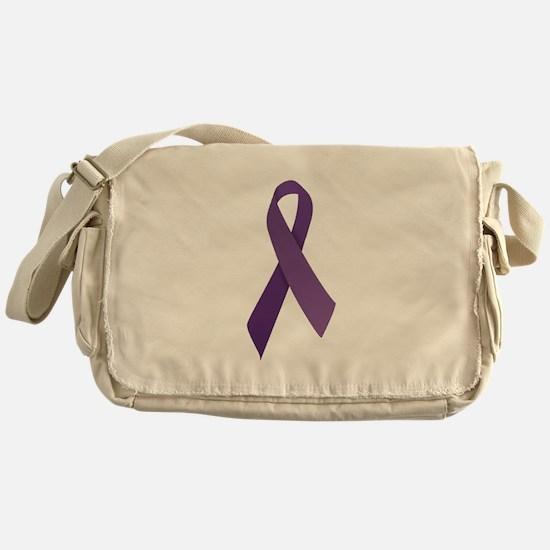 Purple Ribbons Messenger Bag