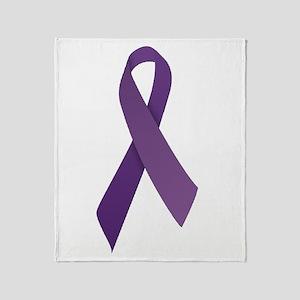 Purple Ribbons Throw Blanket