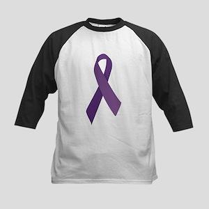 Purple Ribbons Kids Baseball Jersey