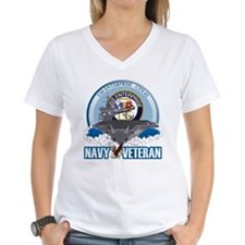 CVN-65 USS Enterprise Women's V-Neck T-Shirt