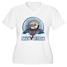 CVN-65 USS Enterprise Women's Plus Size V-Neck T-S