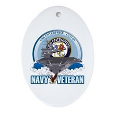 CVN-65 USS Enterprise Ornament (Oval)