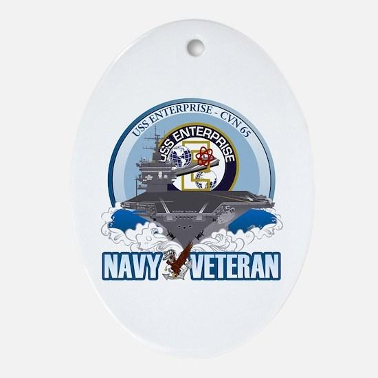 CVN-65 USS Enterprise Ornament (Oval)