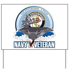 CVN-65 USS Enterprise Yard Sign