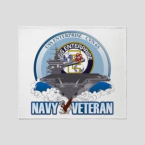 CVN-65 USS Enterprise Throw Blanket