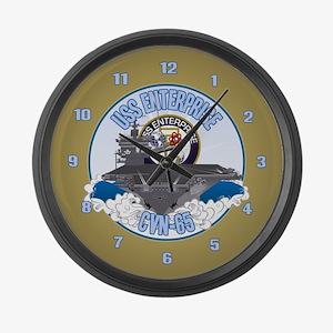 CVN-65 USS Enterprise Large Wall Clock