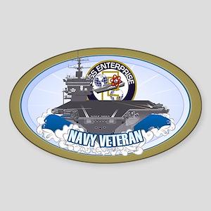 CVN-65 USS Enterprise Sticker (Oval)