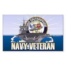 CVN-65 USS Enterprise Sticker (Rectangle)