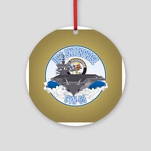 CVN-65 USS Enterprise Ornament (Round)